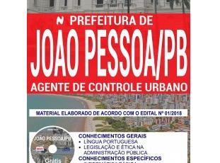 Apostila Agente de Controle Urbano do Concurso Público da Prefeitura de João Pessoa / PB – 2018