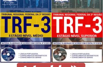 Apostilas Opção Seleção Pública TRF da 3ª Região – 2018, Estágio Nível Médio e Estágio Nível Superior