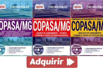 Apostilas Agente de Saneamento e Analista de Saneamento do Concurso Público da COPASA / MG – 2018