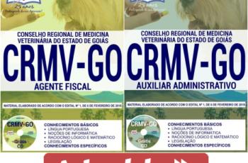 Apostilas Concurso Público CRMV / GO – 2018, Agente Fiscal e Auxiliar Administrativo