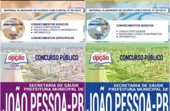 Apostilas Concurso Público na área da Saúde da Prefeitura de João Pessoa / PA – 2018, Vários Cargos