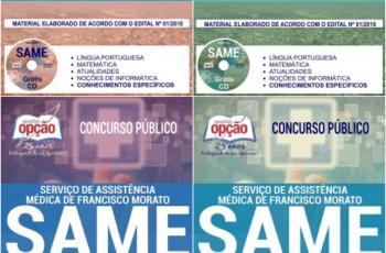 Apostilas Diversos Cargos do Concurso Público do SAME de Francisco Morato / SP – 2018